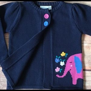 Girls cardigan sweater 2T 3T Boutique elephant